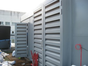Louvred Ventilation Acoustic Doors
