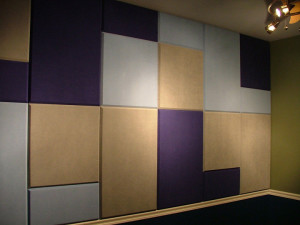 Stretched Acoustic Fabric Wall