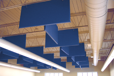 Cloudscape Baffle Installed H S Engineers