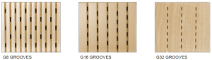 Acoustic panels groove variations