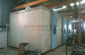 Crane Engine Test cell Acoustic chamber for Car Horns