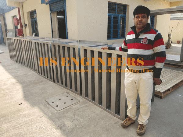 Air discharge Acoustic Attenuators